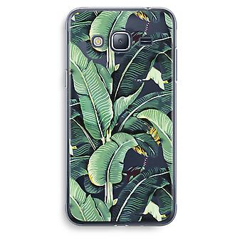 Samsung Galaxy J3 2016 Transparent Case (Soft) - Banana leaves
