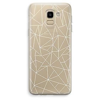 Samsung Galaxy J6 (2018) Transparent Case (Soft) - Geometric lines white