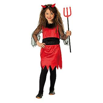 Kleine Teufelin Teufelskostüm Teufel Kleid Kostüm für Kinder