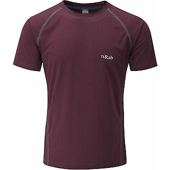 Rab Mens Interval Tee Polyester Grid Knit with Flatlock Low Bulk Seams