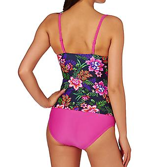 Zoggs Womens Tropical Garden Tankini Summer Swimming Swimsuit Two Piece Costume