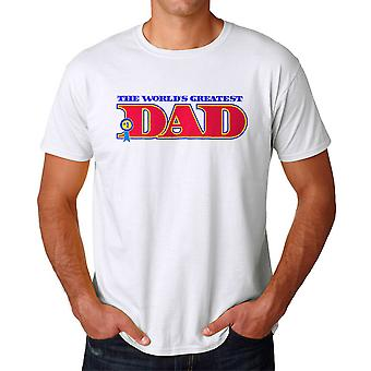 The World's Greatest Dad Graphic Men's White T-shirt