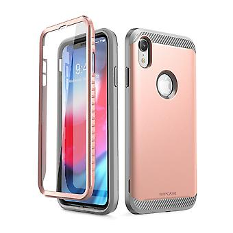 iPhone XR Case, [UB Neo Series] with Built-in Screen Protector Protective 2018 Release Retail Package (RoseGold)