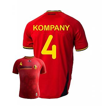 2014-15 Belgien World Cup Home Shirt (Kompany 4)