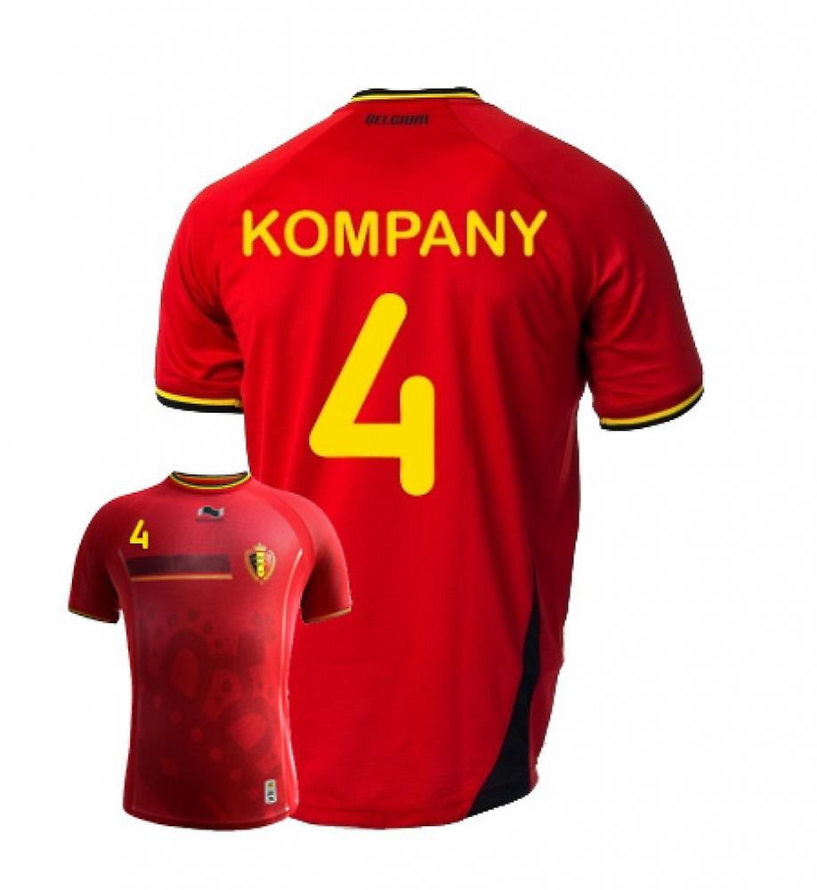 2014-15 Belgium World Cup Home Shirt (Kompany 4)