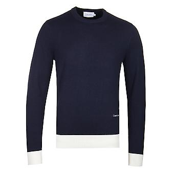 Calvin Klein Luxury Wool Cashmere Navy Sweater