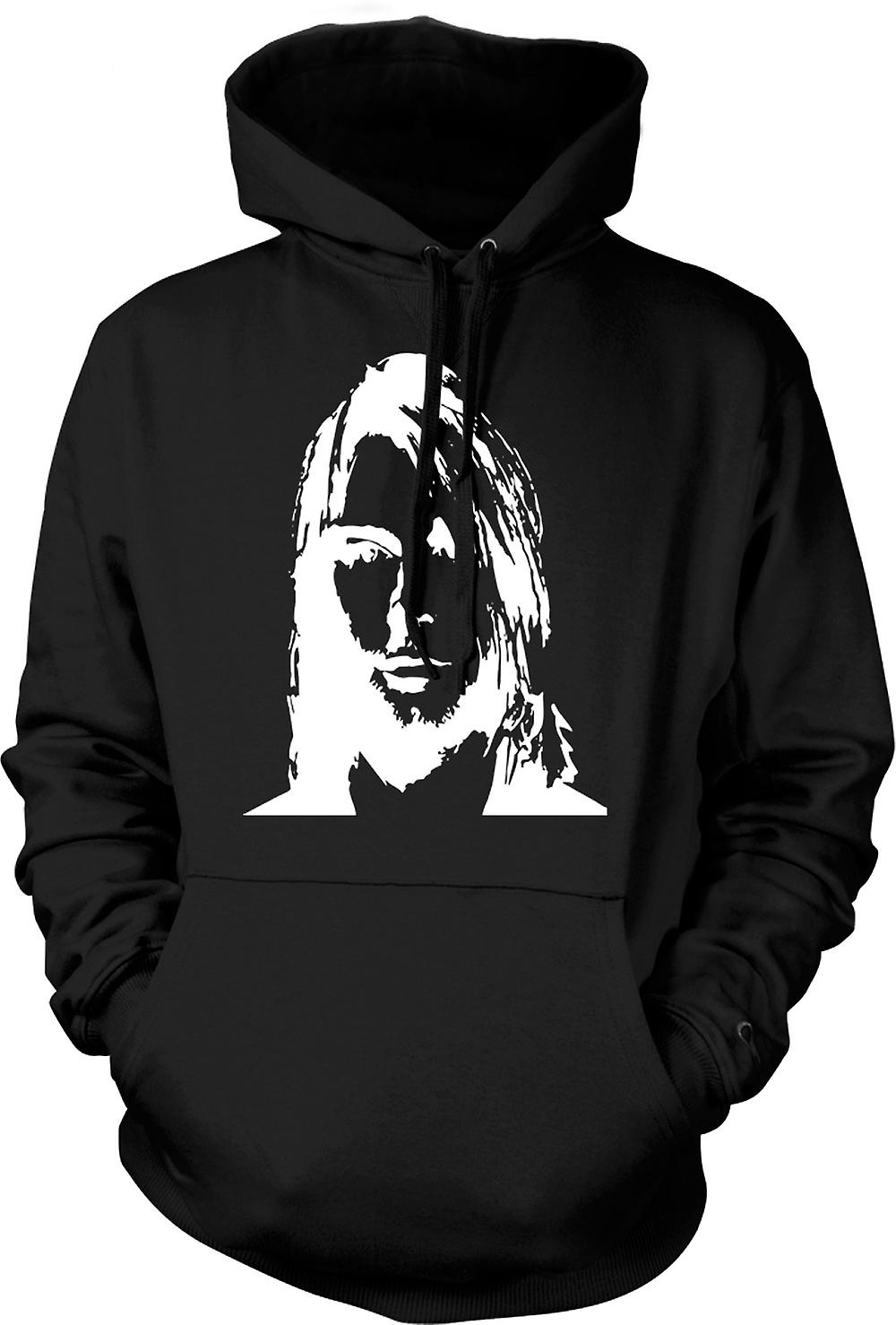 Mens Hoodie - Nirvana - Kurt Cobain - Sketch