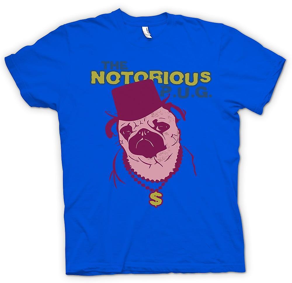 Mens T-shirt-der berüchtigte Mops
