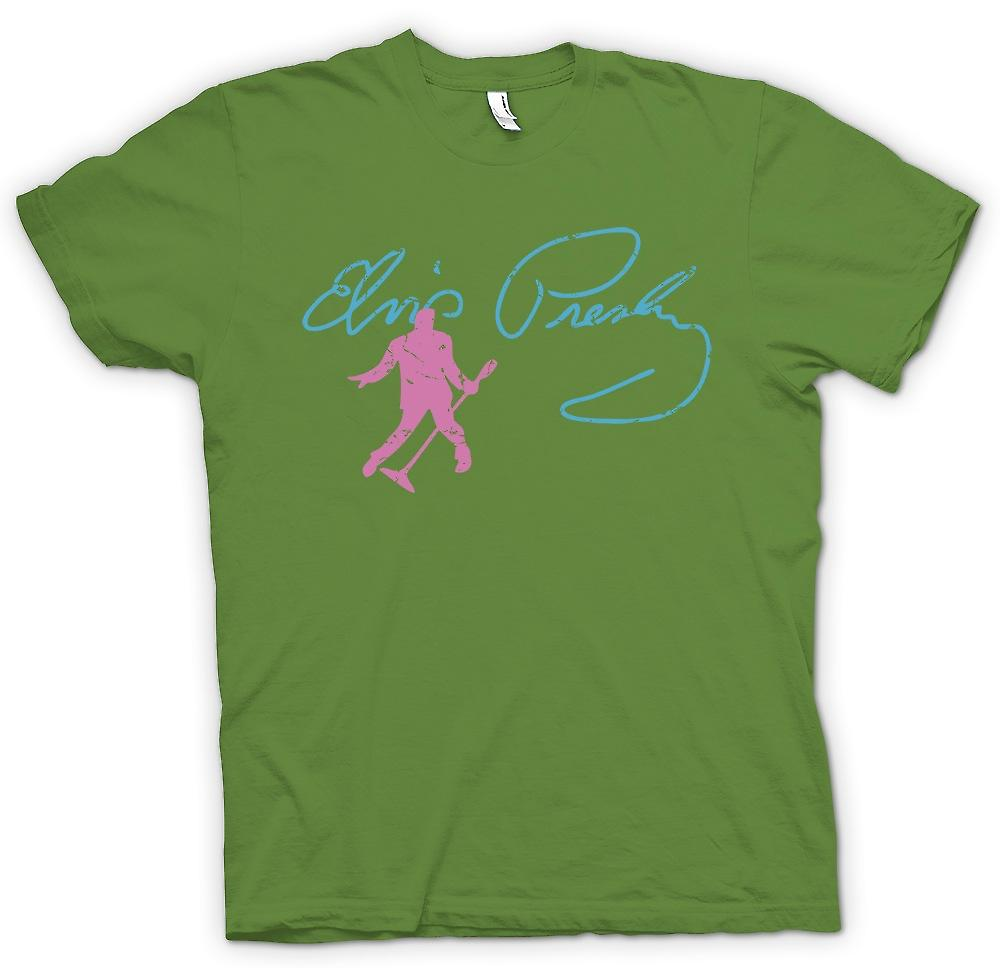 Mens T-shirt - Elvis Presley - Dancing Sig - The King
