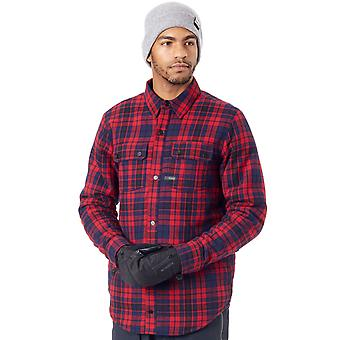 Volcom Red Sherpa Flannel Long Sleeved Snowboarding Shirt