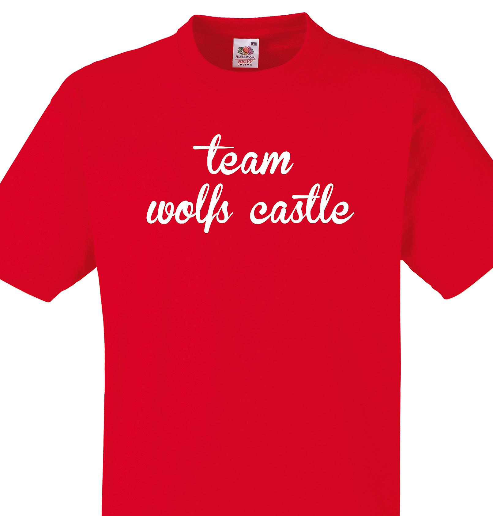 Team Wolfs castle Red T shirt