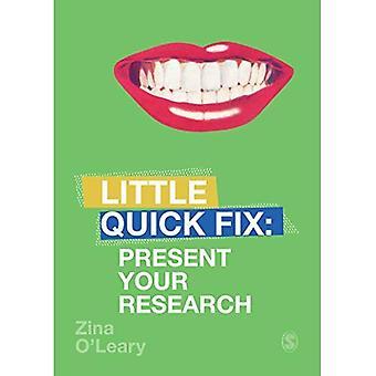 Präsentieren Ihre Forschung: Kleine Quick Fix (kleine Quick Fix)
