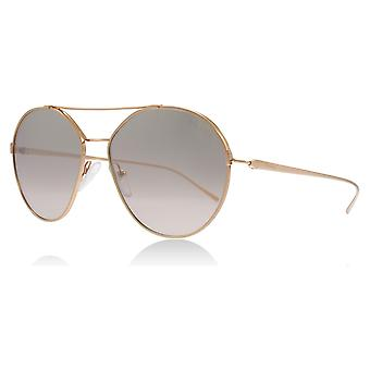 Prada PR56US SVF204 Pink Gold PR56US Pilot Sunglasses Lens Category 2 Lens Mirrored Size 55mm