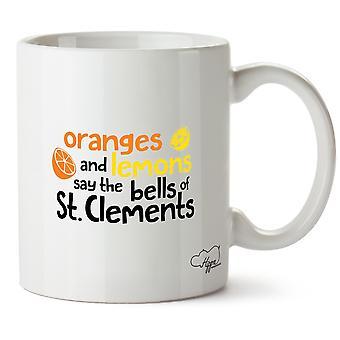 Hippowarehouse апельсины и лимоны говорят колокола печатных кружку St. Clements Кубка керамическая 10oz