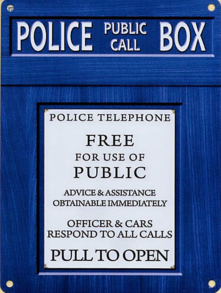 Police Box metal sign  (og 4030)