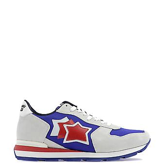 Atlantic Stars White/purple Leather Sneakers