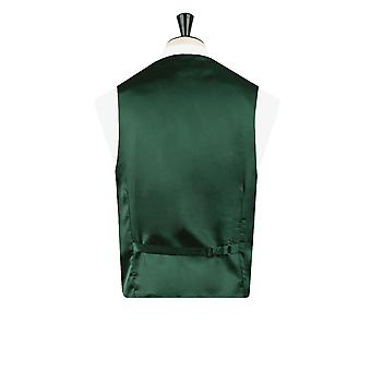 Dobell Boys Racing Green Dupion Waistcoat Regular Fit