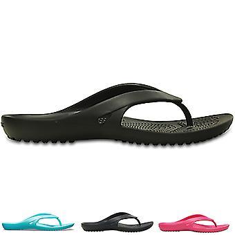 Womens Crocs Kadee II Flip Lightweight Beach Holiday Summer Flat Sandals