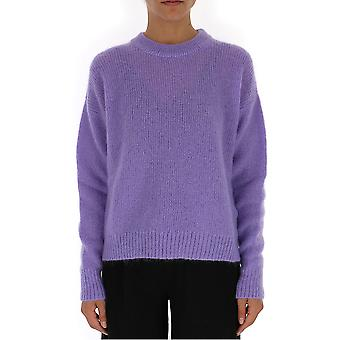 Laneus Purple Wool Sweater