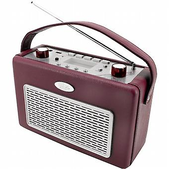 I AM/FM radio with USB coated feather.