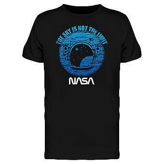 Космос НАСА гранж небо это не предел астронавт графический Мужская футболка