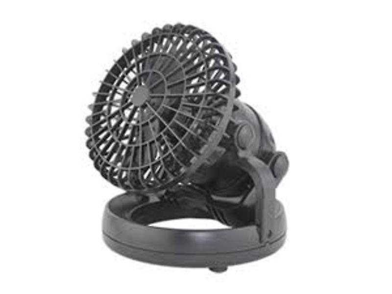 Yellowstone 18 LED Tent Light and Fan (Black)