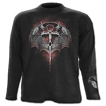 Spiral-direkte Gothic die LORD OF DARKNESS - Longsleeve T-Shirt Black| Vampire| Cross| Flames| Fangs
