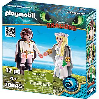 Playmobil 70045 Dragons Astrid and Hiccup, Colourful