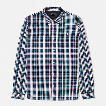 Fred Perry Herren kühn karierte Langarm Shirt M7247-458