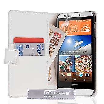 YouSave Accessories HTC Desire 510 Leather-Effect Wallet Case - White