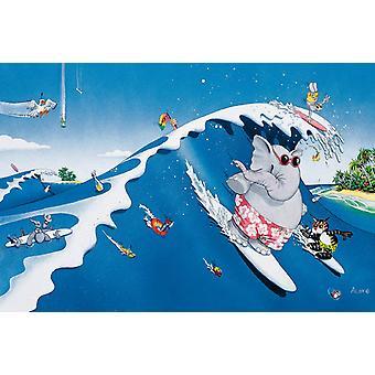 Affisch-Studio B-36x24 den stora Surf Wall Art CJ1568B