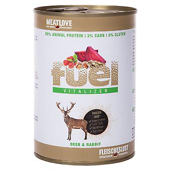 Meatlove Fuel Deer and Rabbit Can Wet Dog Food - 410g