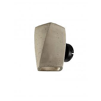 Mantra Ghery Wall Lamp 2 Light G9, Cement/Matt Black