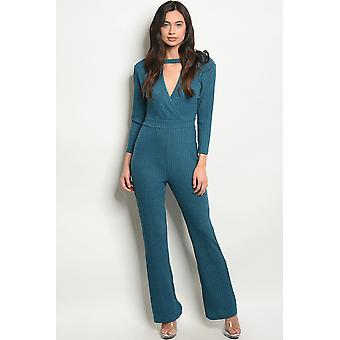 Womens teal jumpsuit