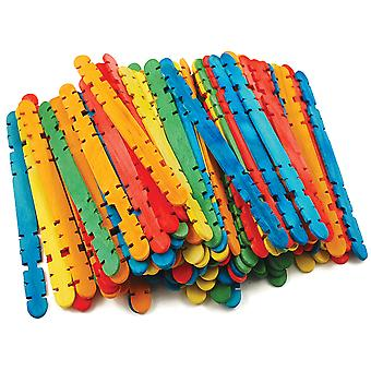Craft Skill Sticks Assorted Colors 4.5