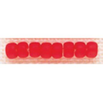Mill Hill Glass Beads Size 6 0 4Mm 5.2 Grams Pkg Frosted Red Red Gbd6 16617