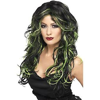 Smiffys Gothic Bride Wig Green & Black Long & Streaked (Costumes)