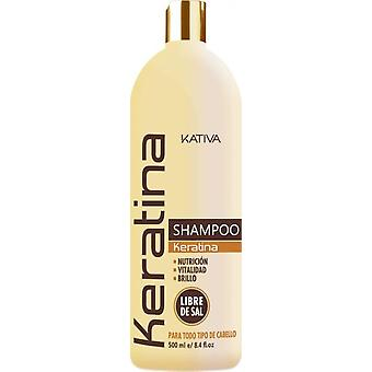 Kativa Keratin Shampoo 500 Ml. (Woman , Man , Hair Care , Hair Care , Shampoos)