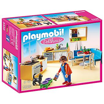Playmobil Kitchen With Living Room