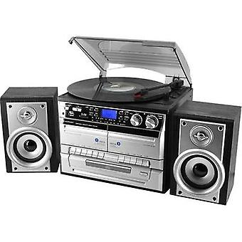 Audio system SoundMaster MCD4500 CD, AUX, Tape, SD, USB, Turntable, AM, FM, Black, Silver