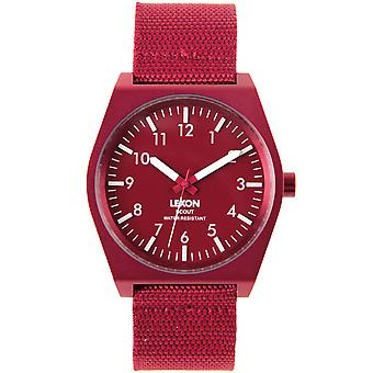 Red Lexon Scout Watch