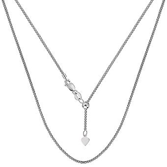 Sterling Silver Rhodium Plated 22