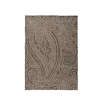 Grey Damask Contemporary Rug Essence