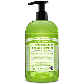 Dr Bronner's Shikakai Soap 709 Ml Master Case Count 12 Lemongrass Lime