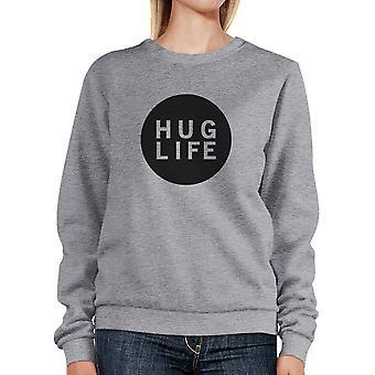 Hug Life Unisex Trendy Graphic Sweatshirt Simple Design Cute Gifts