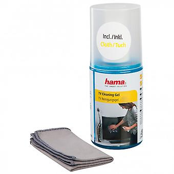 HAMA cleaning kit for LCD/PL Gel 200 ml Incl. Canvas