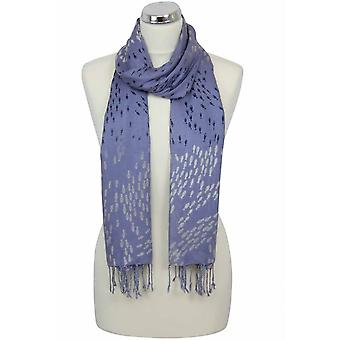 Peony Scarf - Fishes - Heather/Blue