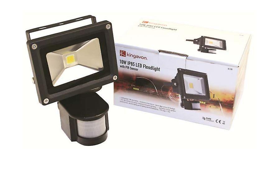 10W IP65 LED Floodlight With PIR Sensor Outdoor Garden Security Light