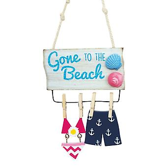 Gone to the Beach Swimsuits Hanging on the Line Christmas Holiday Ornament