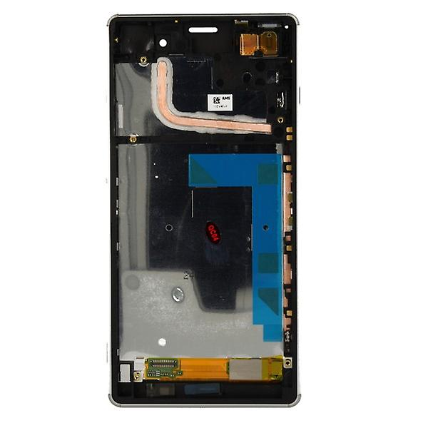 Original Sony Display LCD complete unit with frame for Xperia Z3 D6603 White